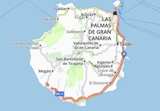 Canarie Cartina Geografica.Mappa Isla De Gran Canaria Cartina Isla De Gran Canaria