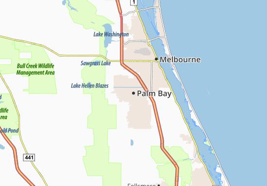 Carte-Plan Palm Bay