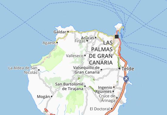 Carte Lanzarote.Carte Detaillee Lanzarote Plan Lanzarote Viamichelin