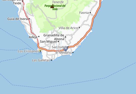 Kaart Plattegrond San Isidro