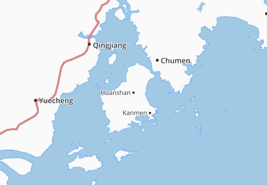 Kaart Plattegrond Huanshan
