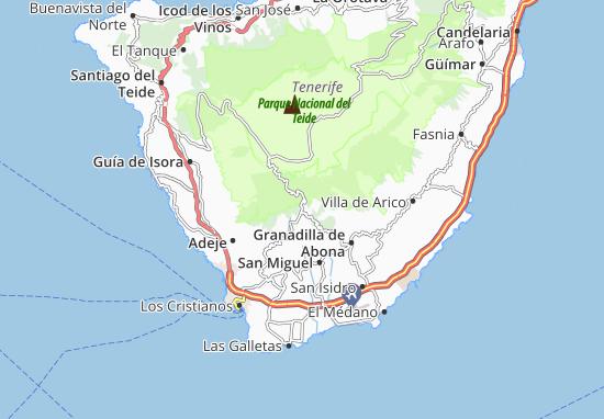 Vilaflor Map: Detailed maps for the city of Vilaflor - ViaMichelin