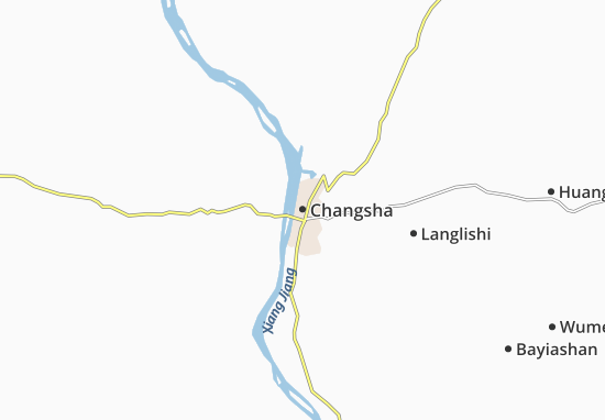 Kaart Plattegrond Changsha