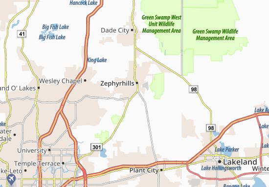 Mappe-Piantine Zephyrhills South