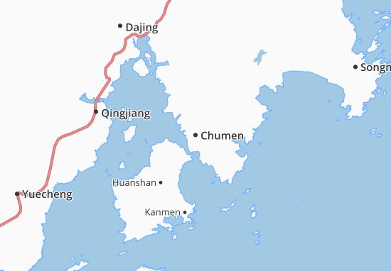 Kaart Plattegrond Chumen