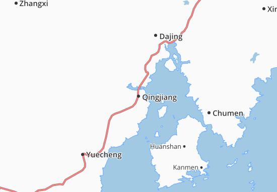 Kaart Plattegrond Qingjiang