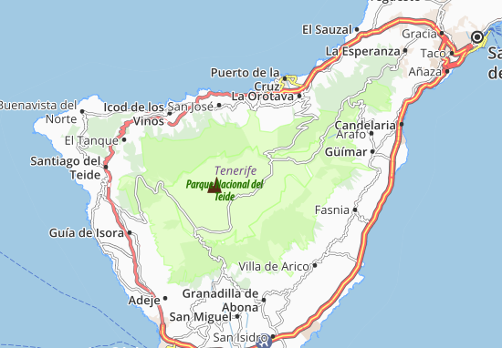 Mapa De Tenerife Sur.Mapa Isla De Tenerife Plano Isla De Tenerife Viamichelin