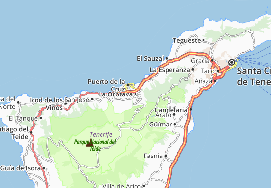 Map of La Orotava Michelin La Orotava map ViaMichelin – Map Of La Tourist Attractions