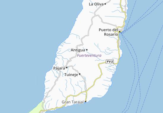 Cartina Spagna Fuerteventura.Mappa Michelin Isla De Fuerteventura Pinatina Di Isla De Fuerteventura Viamichelin