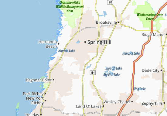 Carte-Plan Shady Hills