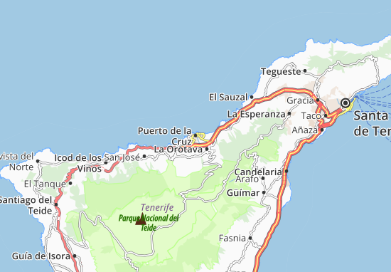 Carte Europe Tenerife.Puerto De La Cruz Map Detailed Maps For The City Of Puerto