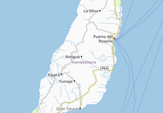 Carte-Plan Antigua