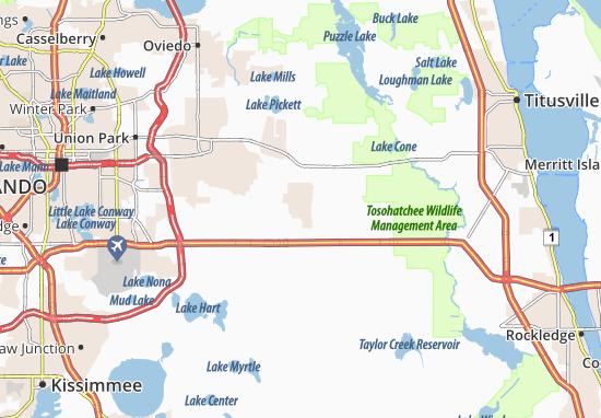 Kaart Plattegrond Wedgefield