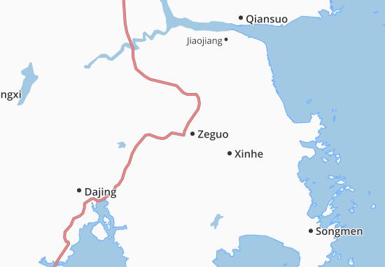 Kaart Plattegrond Zeguo