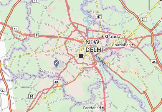 Dehli India Map on