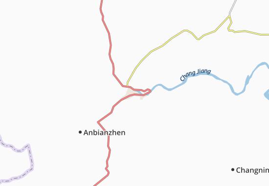 Kaart Plattegrond Yibin