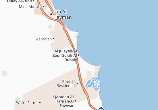 Carte-Plan Al Julayah-Al Zour-Sulah-Al Dubaiy