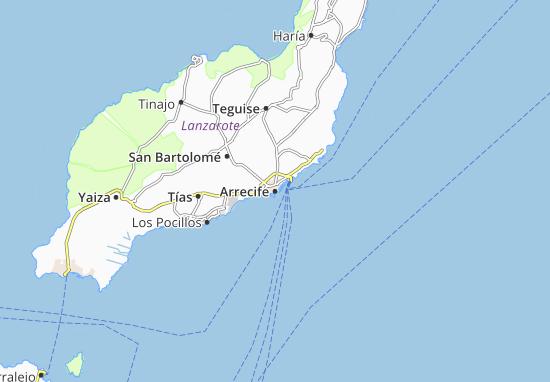 Carte-Plan Arrecife