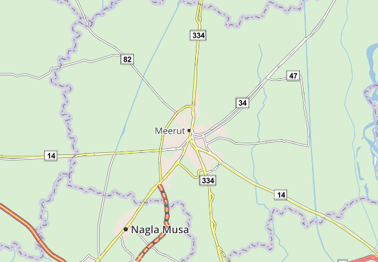 Mapa Plano Meerut