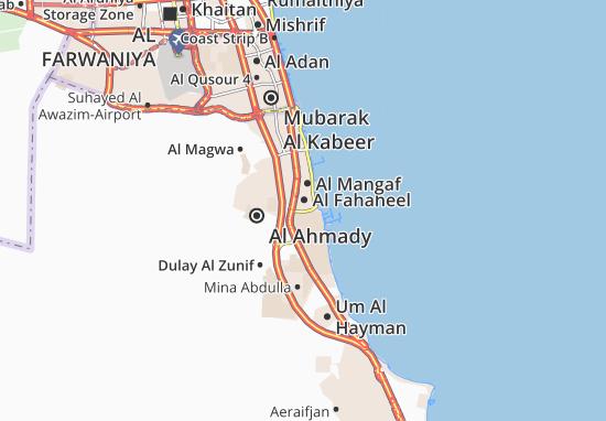 Al Fahaheel 6 Map