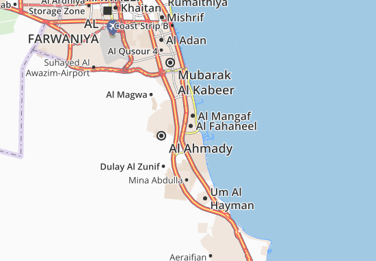 Kaart Plattegrond Al Fahaheel 3