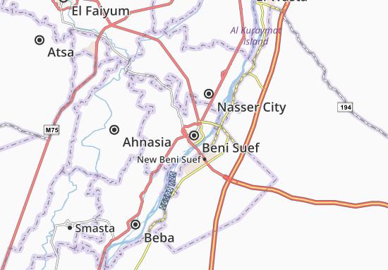 Kaart Plattegrond Beni Suef