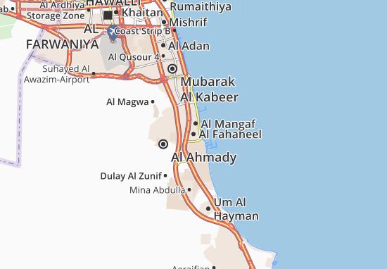 Kaart Plattegrond Al Fahaheel