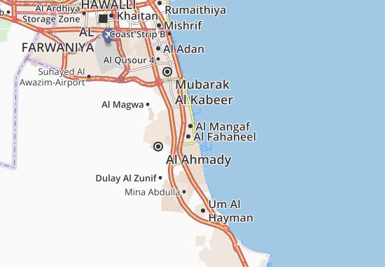 Carte-Plan Al Fahaheel 10