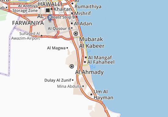 Kaart Plattegrond Al Mangaf 3
