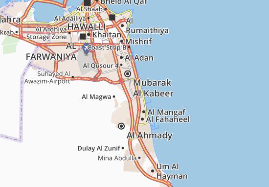 Kaart Plattegrond Al Riqqa