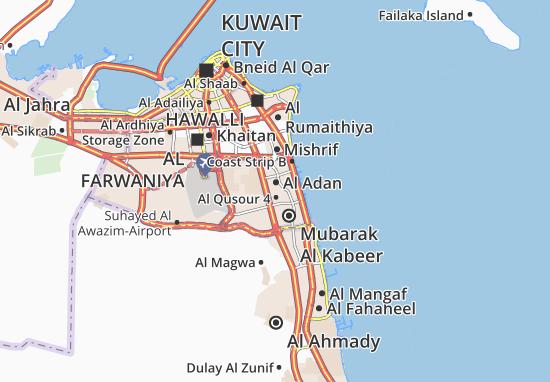 Carte-Plan Al Adan 5