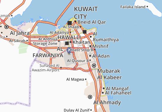 Kaart Plattegrond Al Wusta