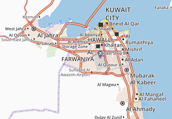 Mapa Plano Abdullah Al Mubarak-West Jleeb 4
