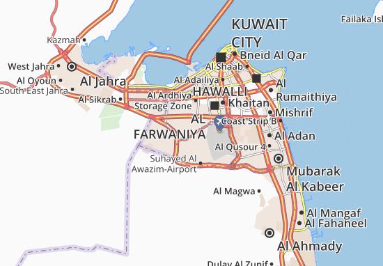 Carte-Plan Abdullah Al Mubarak-West Jleeb 2