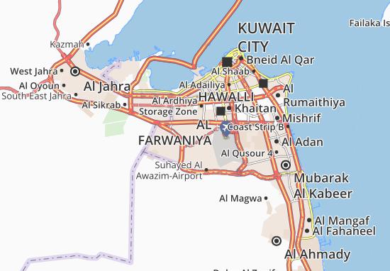 Carte-Plan Abdullah Al Mubarak-West Jleeb 3