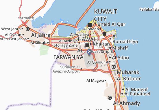 Carte-Plan Abdullah Al Mubarak-West Jleeb