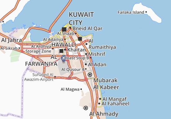 Kaart Plattegrond Sabah Al Salem