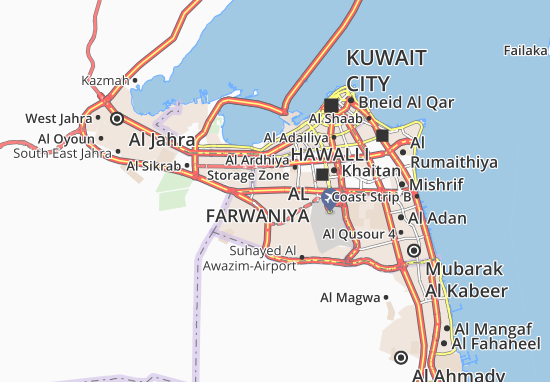 Sabah Al Salem University City Map