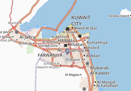 Map of Al Farwaniya - Michelin Al Farwaniya map - ViaMichelin
