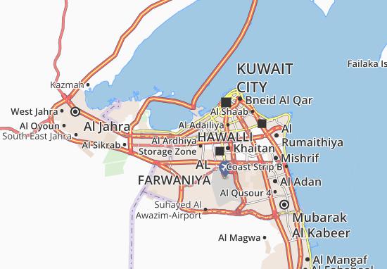 Carte-Plan Al Mubarakiya Camps