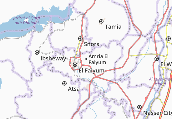 Mapa Amria El Faiyum