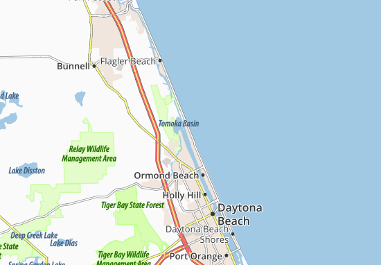 Carte-Plan Ormond-by-the-Sea