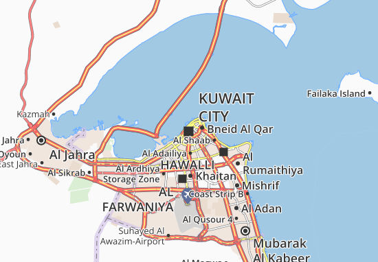 Kuwait City Map Detailed Maps For The City Of Kuwait City - Kuwait map