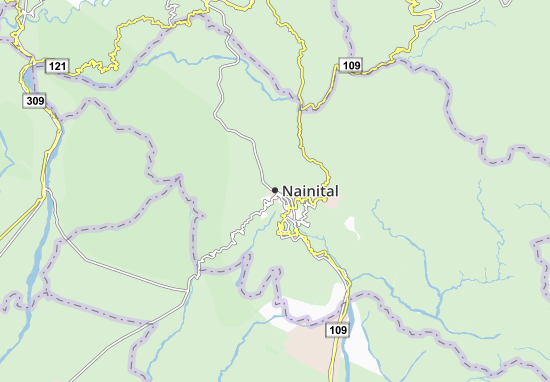 Kaart Plattegrond Nainital
