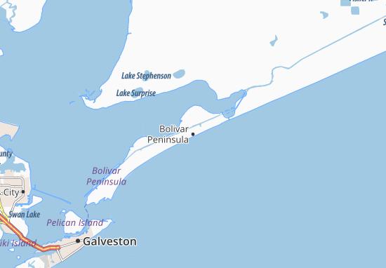 Bolivar Peninsula Map
