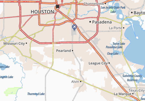 Pearland Map: Detailed maps for the city of Pearland - ViaMichelin