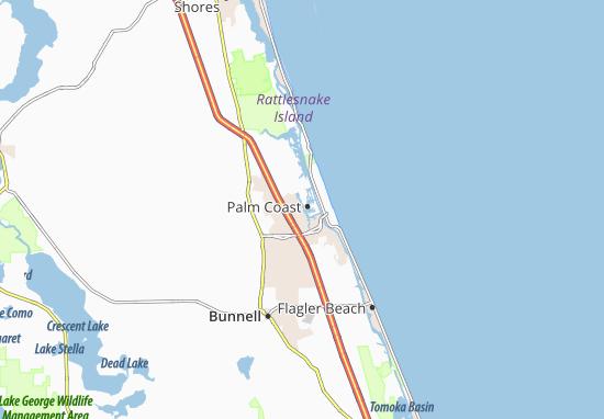Carte-Plan Palm Coast