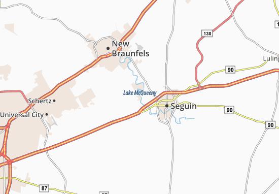 McQueeney Map