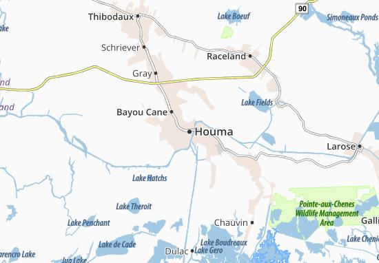 Houma Map