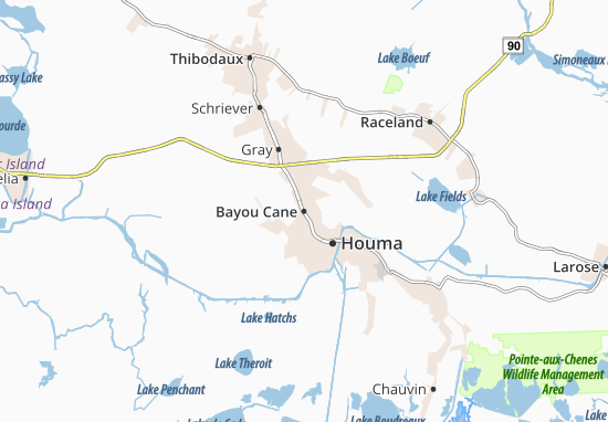 Carte-Plan Bayou Cane